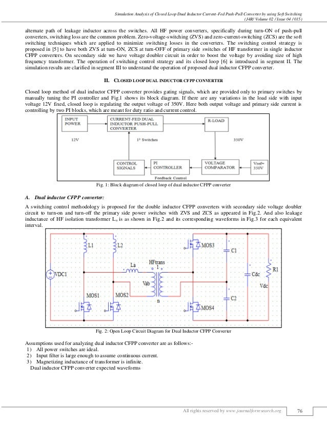 SIMULATION ANALYSIS OF CLOSED LOOP DUAL INDUCTOR CURRENT-FED PUSH-PUL…
