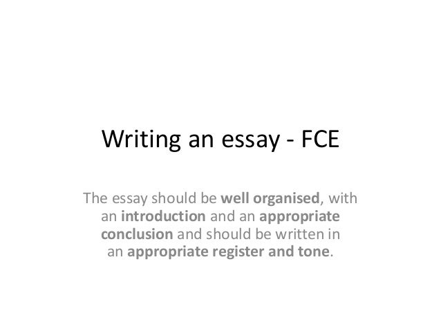writing fce essay