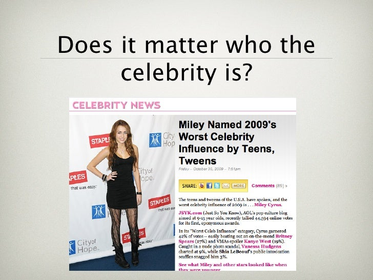 Celebrity obsession Essay Example for Free - Sample 1820 words