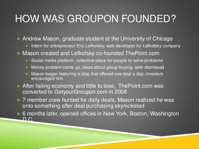 groupon case Groupon works with businesses of all different shapes and sizes so we created these videos to show the success stories from several different merchants in.
