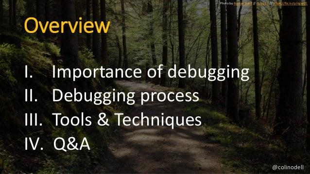 Debugging Effectively - All Things Open 2017 Slide 3