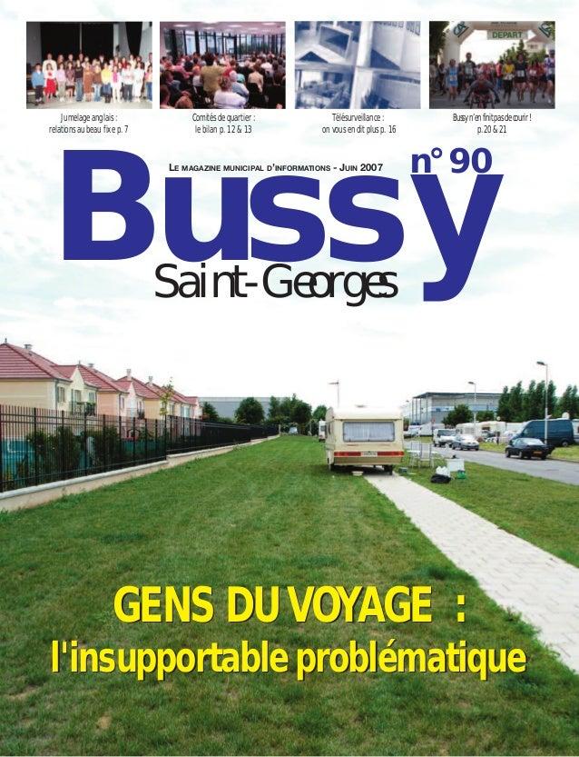 Jumelage anglais :             Comités de quartier :           Télésurveillance :         Bussy n'en finit pas de courir !...