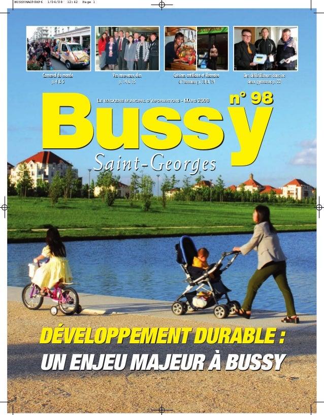 BUSSYMAG98XP6     1/04/08    12:42   Page 1                Carnaval du monde                   Vos nouveaux élus          ...