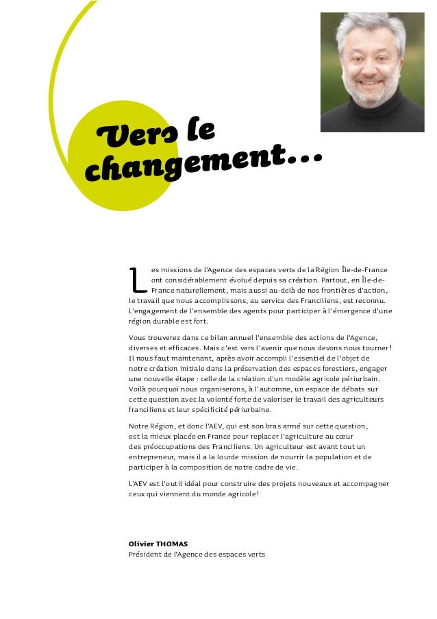 Rapport Annuel 2011 Agence nationale des espaces verts Slide 3