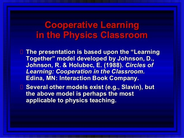 Collaborative Learning In Classroom Interaction ~ Cooperative learning