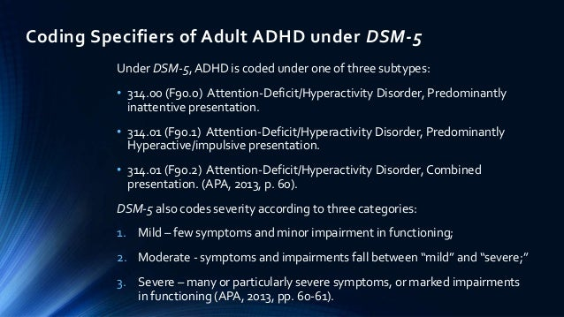 Icd 10 Codes For Attention Deficit Hyperactivity Disorder