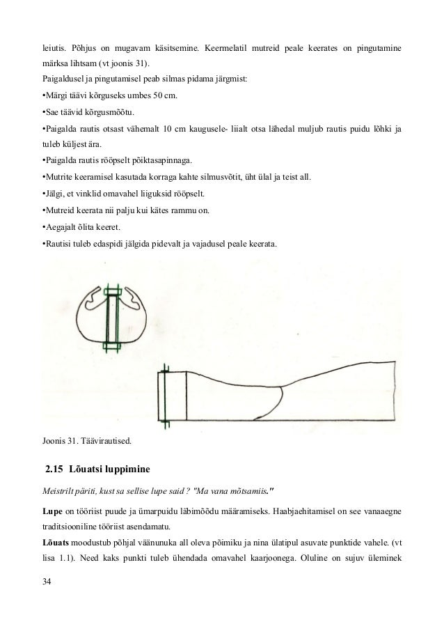 leiutis. Põhjus on mugavam käsitsemine. Keermelatil mutreid peale keerates on pingutamine märksa lihtsam (vt joonis 31). P...