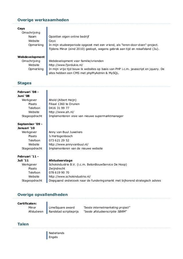 CV Jaap trum