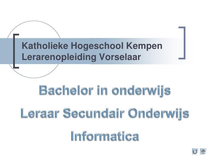 Katholieke Hogeschool KempenLerarenopleiding Vorselaar