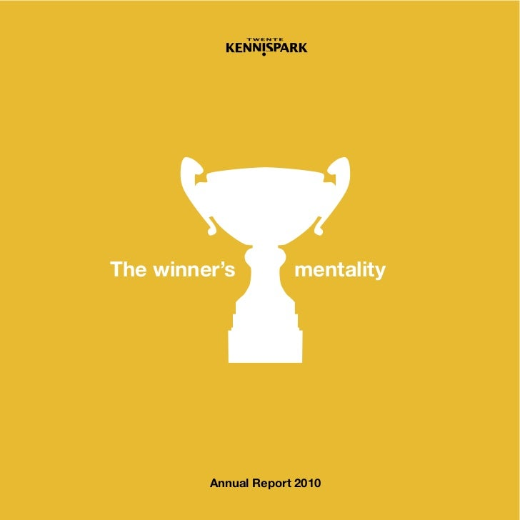 The winner's          mentality         Annual Report 2010       Entrepreneurship                                    1
