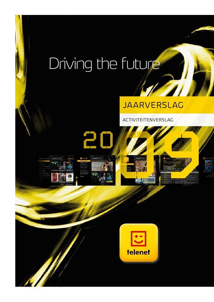 Driving the future             jaarver slag            activiteitenverslag