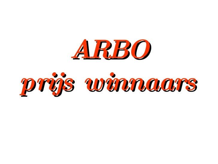 ARBO prijs winnaars