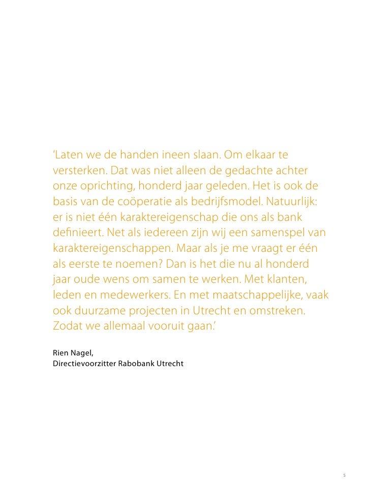 Jaarverslag Rabobank Utrecht 2011
