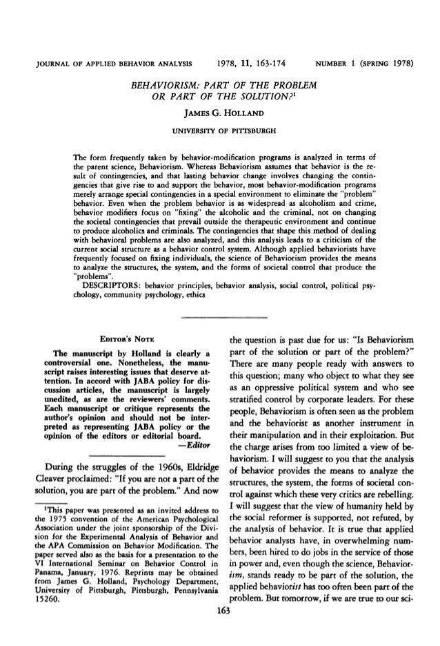 JOURNAL OF APPLIED BEHAVIOR ANALYSIS                   1978, 11, 163-174           NUMBER 1    (SPRING 1978)              ...