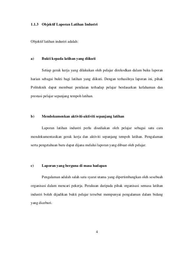 Contoh Laporan Akhir Latihan Industri Politeknik Jabatan Perdagangan 2019