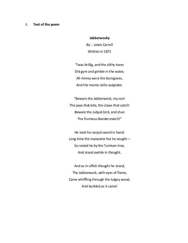 Jabberwocky paper