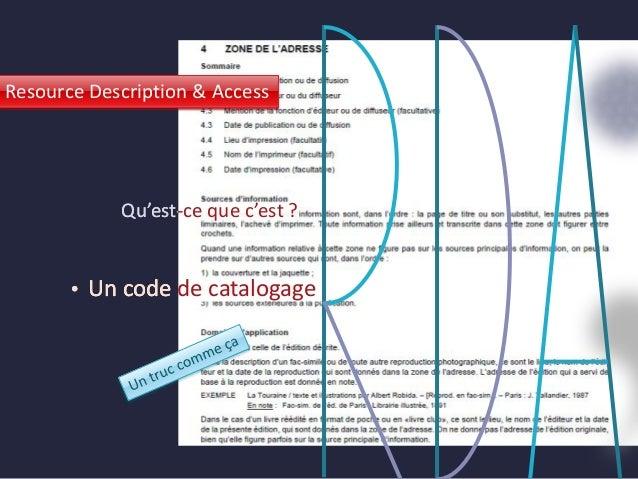Journées ABES 2014 - session parallèle - RDA vu de l'intérieur Slide 3