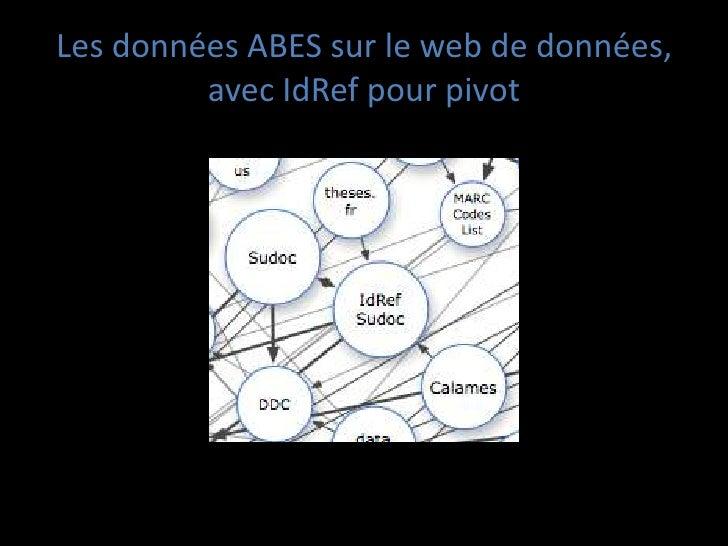 Les données ABES sur le web de données,         avec IdRef pour pivot