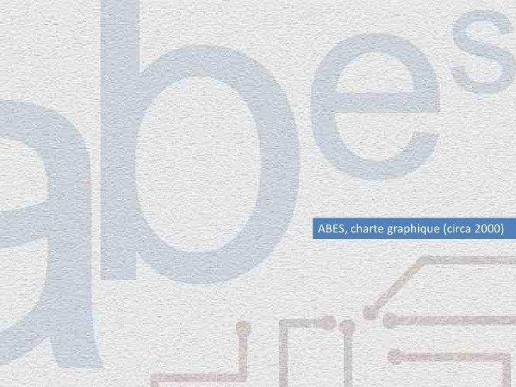 ABES, charte graphique (circa 2000)