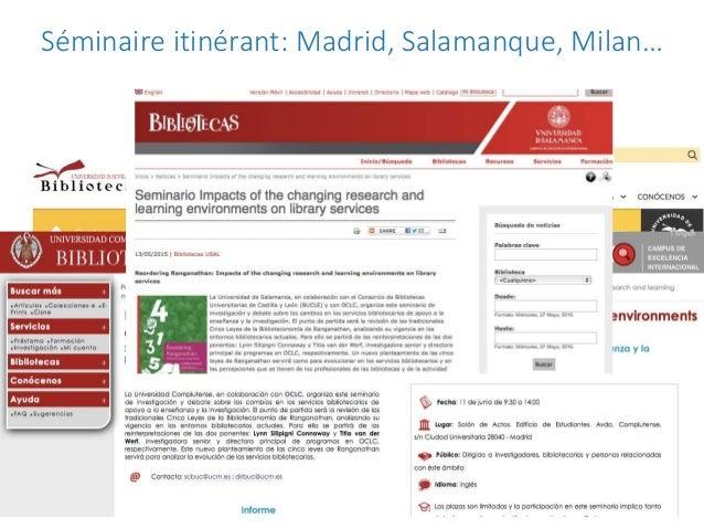 Séminaire itinérant: Madrid, Salamanque, Milan…