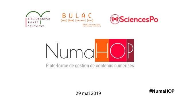 29 mai 2019 #NumaHOP