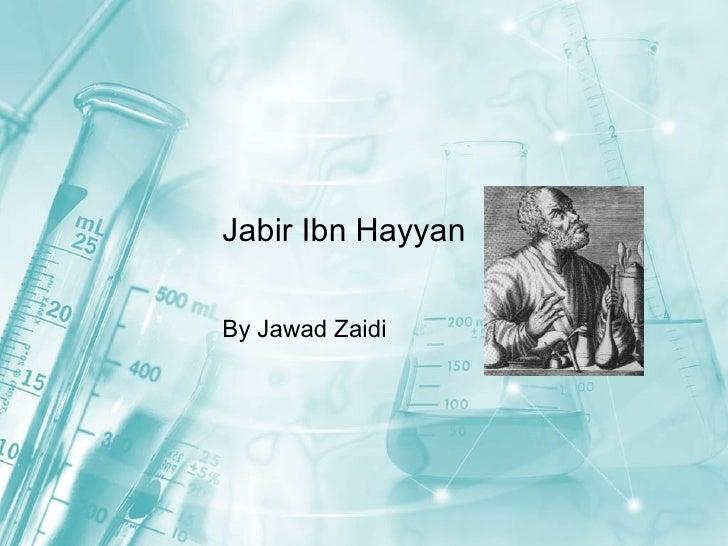 Jabir Ibn Hayyan By Jawad Zaidi