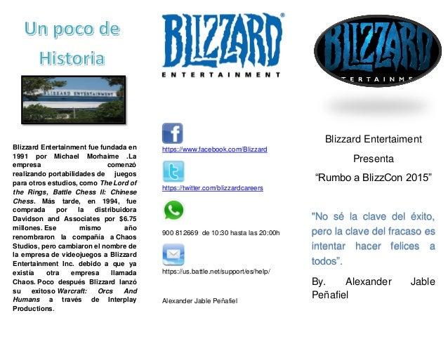 Blizzard Entertainment fue fundada en 1991 por Michael Morhaime .La empresa comenzó realizando portabilidades de juegos pa...