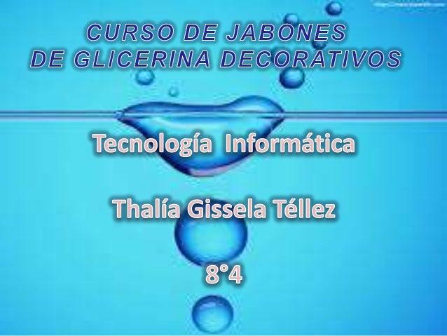 CURSO DE JABONES DE GLICERINA DECORATIVOS En este curso te enseñaremos hacer jabones de glicerina. Veras lo fácil y divert...