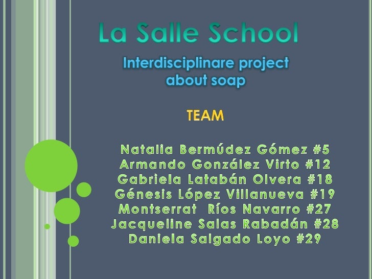 At the beginning of the semester the college La Salle suggested to allthird year a interdisciplinary project that integrat...