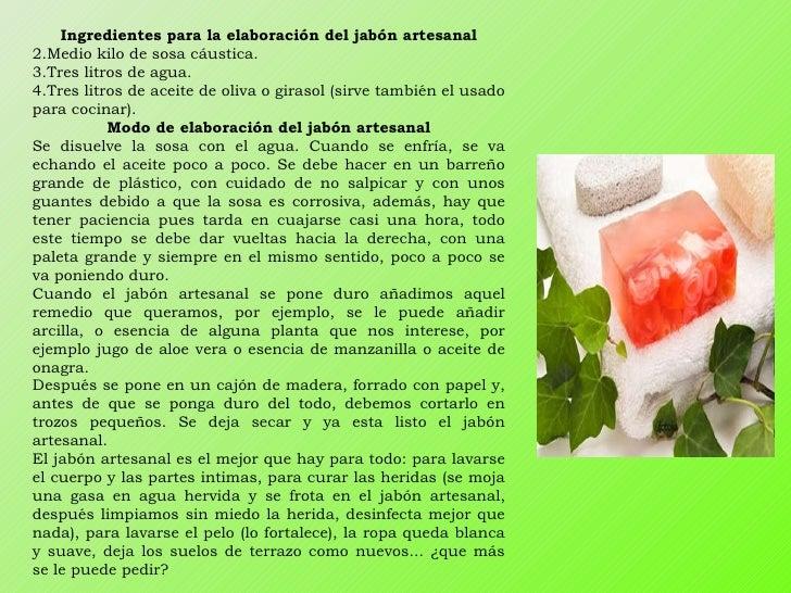 Jabon natural - Formula para hacer jabon casero ...