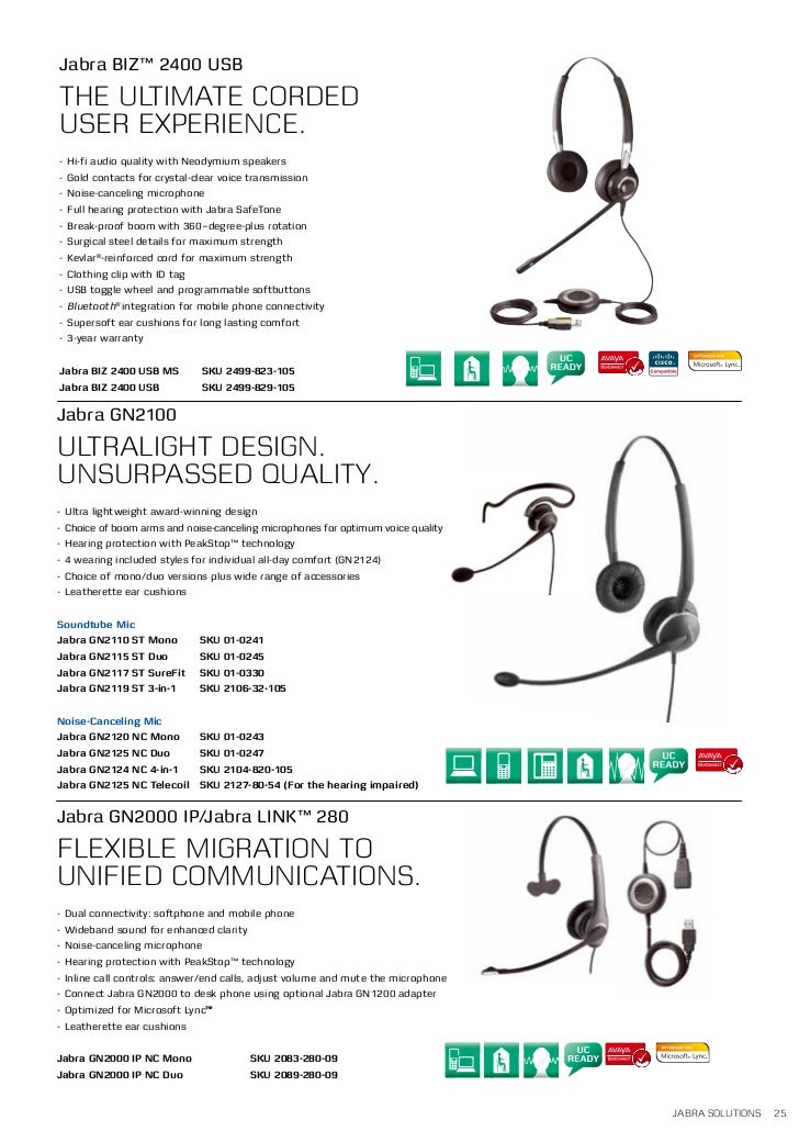 a8daebfc0fa Jabra 2011 Business Solutions Catalogue – Corporate Telecom Services