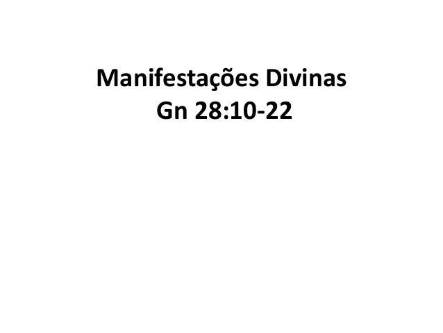 Manifestações Divinas Gn 28:10-22