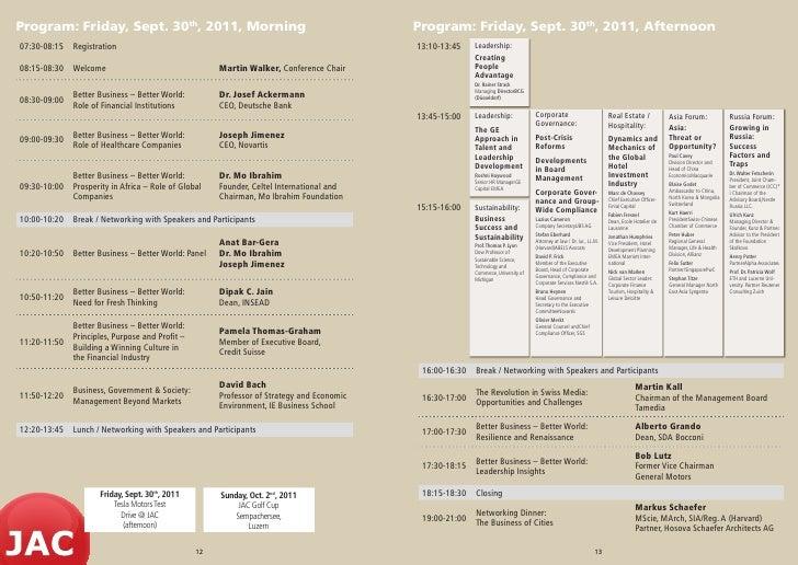 Program: Friday, Sept. 30th, 2011, Morning                                                Program: Friday, Sept. 30th, 201...