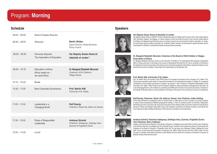 Program: MorningSchedule                                                                                            Speake...