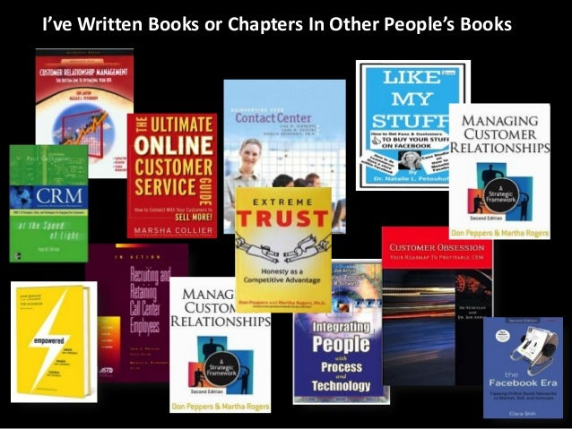 I've Written Books or Chapters In Other People's Books