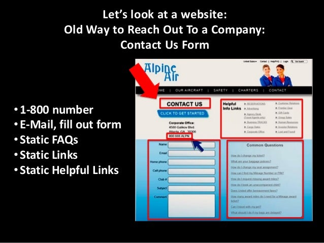 New Way to Reach Out To a Company: Contact Us Form… but…  Click on Visual IVR Website button