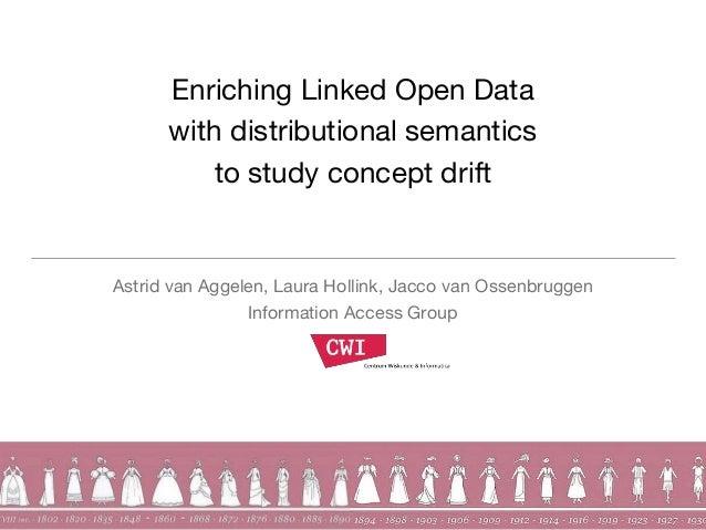 Enriching Linked Open Data with distributional semantics to study concept drift Astrid van Aggelen, Laura Hollink, Jacco v...
