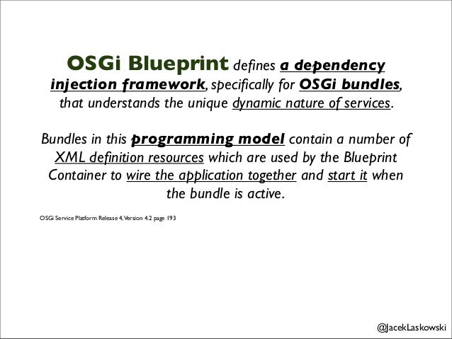 Developing modular applications with java ee 6 and enterprise osgi blueprint container specication version 10 jaceklaskowski 4 malvernweather Gallery