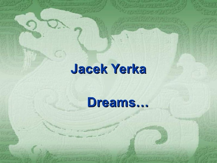 Jacek Yerka Dreams…