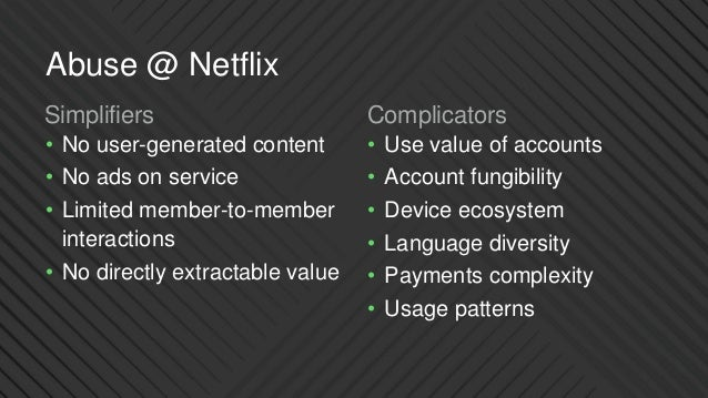 Defending Netflix from Abuse