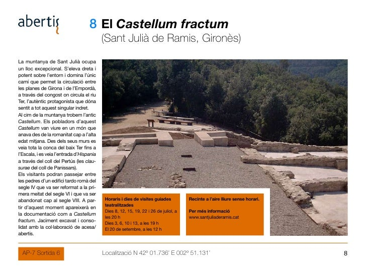 08 El Castellum fractum                                            (Sant Julià de Ramis, Gironès) La muntanya de Sant Juli...