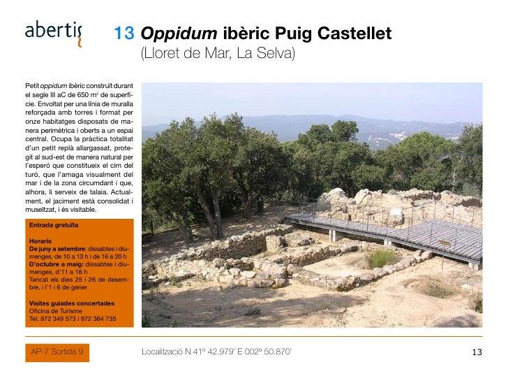 13 Oppidum ibèric Puig Castellet                                          (Lloret de Mar, La Selva) Petit oppidum ibèric c...
