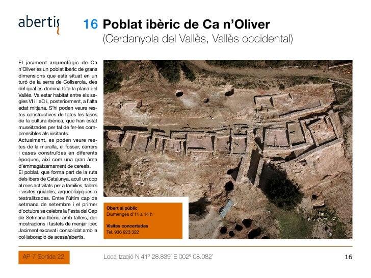 16 Poblat ibèric de Ca n'Oliver                                             (Cerdanyola del Vallès, Vallès occidental) El ...