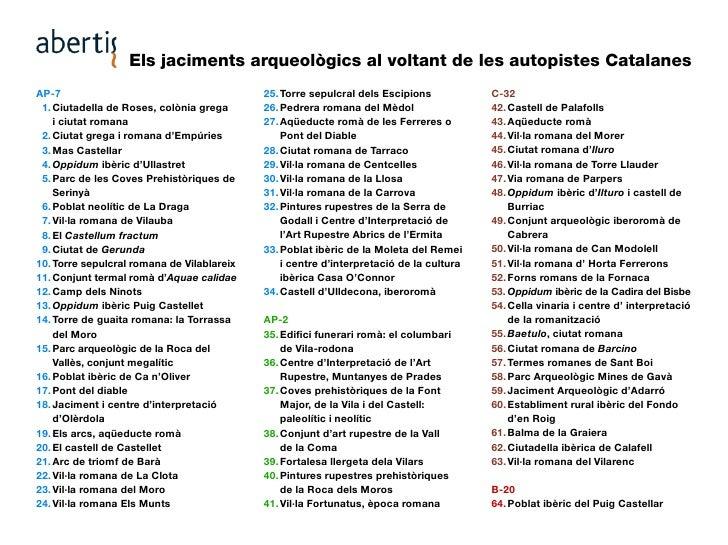 Els jaciments arqueològics al voltant de les autopistes Catalanes AP-7                                        25. Torre se...