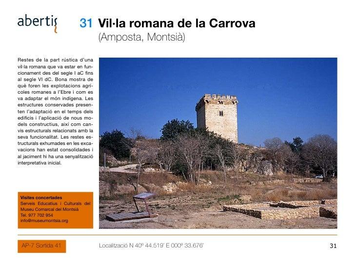 31 Vil·la romana de la Carrova                                       (Amposta, Montsià) Restes de la part rústica d'una vi...