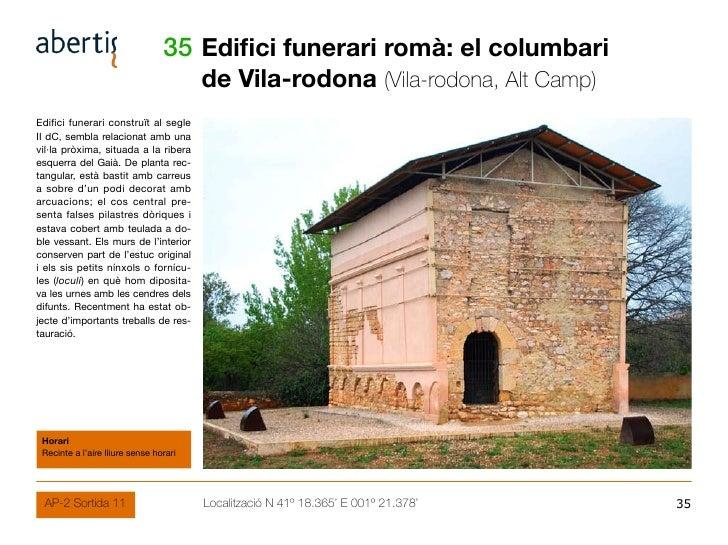 35 Edifici funerari romà: el columbari                                         de Vila-rodona (Vila-rodona, Alt Camp) Edif...