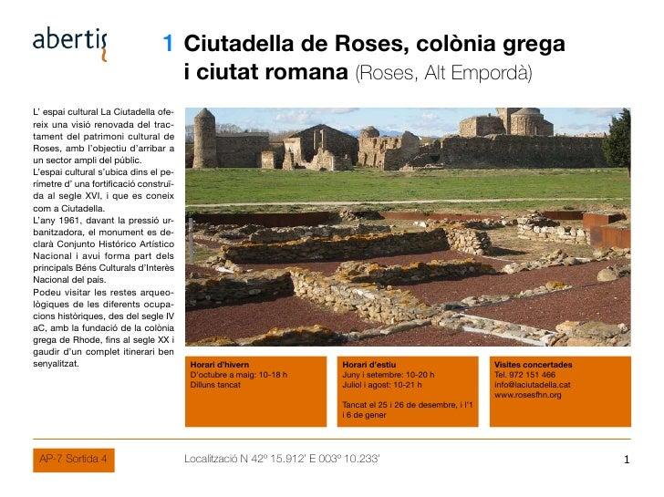 01 Ciutadella de Roses, colònia grega                                         i ciutat romana (Roses, Alt Empordà) L' espa...