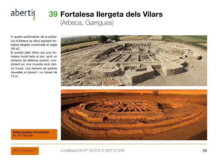39 Fortalesa Ilergeta dels Vilars                                       (Arbeca, Garrigues) A quatre quilòmetres de la pob...