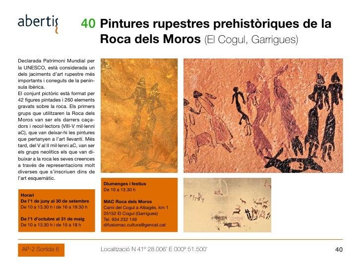 40 Pintures rupestres prehistòriques de la                                           Roca dels Moros (El Cogul, Garrigues)...