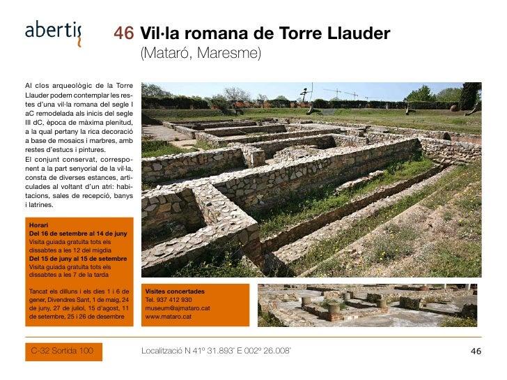 46 Vil·la romana de Torre Llauder                                           (Mataró, Maresme) Al clos arqueològic de la To...
